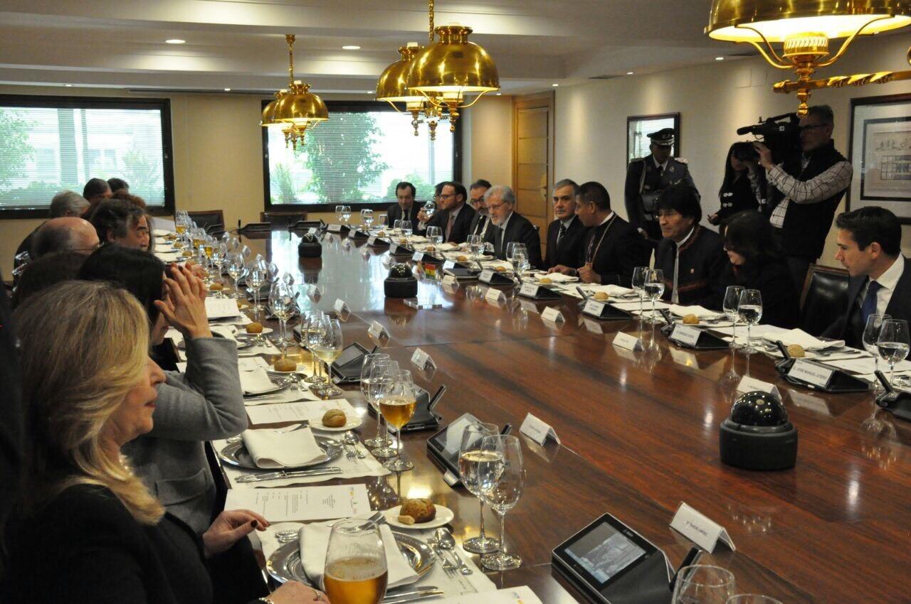 Visita del Presidente del Estado Plurinacional de Bolivia, Exmo Sr. Evo Morales, a España